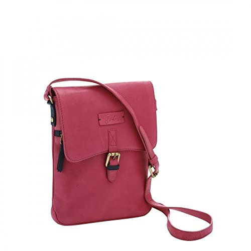 b2ca89dc09c2 Joules Q Laverton Ladies Leather Crossbody Bag (Pink): Handbags ...