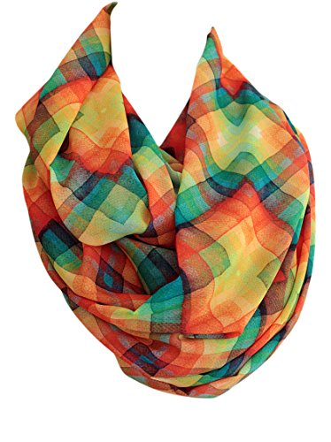 Etwoa's Colorful Geometric Shape Print Infinity Scarf Circle Scarf Loop Scarf ()