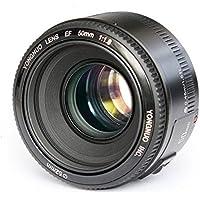 YONGNUO YN50 50mm F1.8 Lens Large Aperture Auto Focus AF Lens for Canon EOS DSLR Cameras + CEARI MicroFiber Cloth