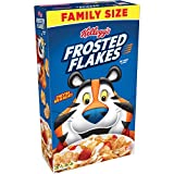 Kellogg's frosted flakes of corn cereal, 24-ounce box, features frosted, oven-toasted corn flakes that give kids a sweet, crispy start to their morning. Fortified with 10 essential vitamins and minerals, frosted flakes have no cholesterol, are fat-fr...