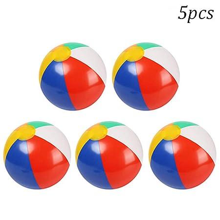 WE-WIN - Balón Hinchable de Playa (5 Unidades), 5 Piezas ...