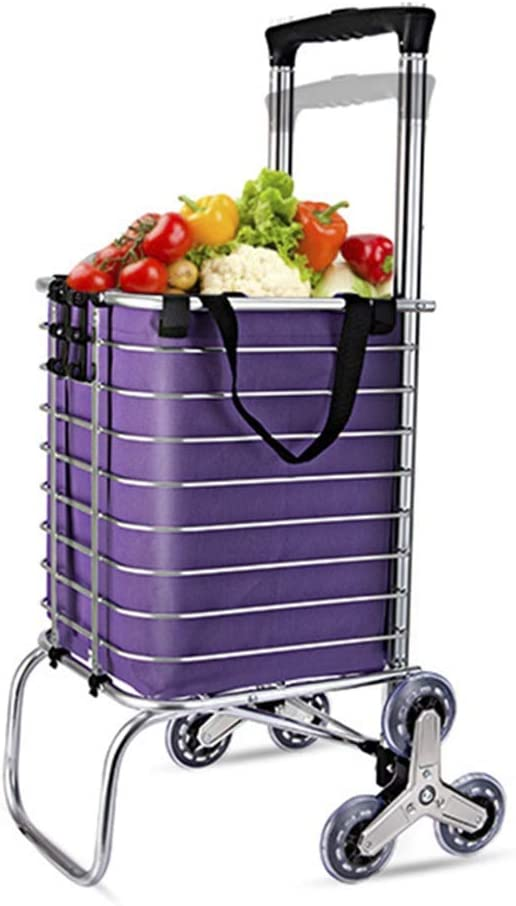 Trolley Folding Shopping Cart Grocery Shopping Cart Retractable Handle Climbing Portable Folding Trailer Color : I Dual-use Models Household