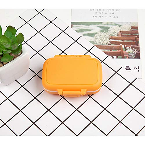 WowObjects Portable Mini Pill Case Medicine Boxes 3 Grids