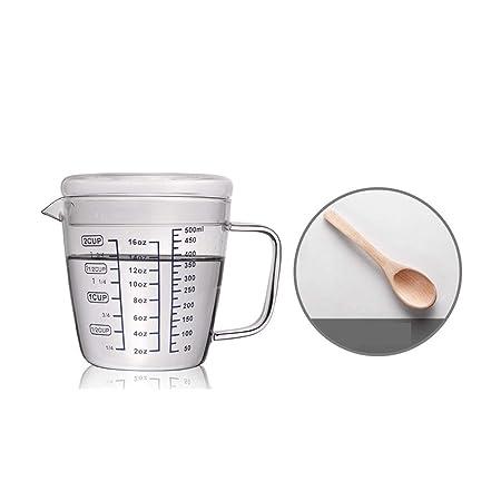 Compra XIONGHAIZI Vaso medidor de vidrio resistente al calor ...