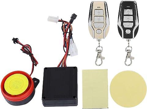 Motorcycle Alarm System 125dB 12V Universal Remote Control Engine Start Anti-Theft Security Alarm