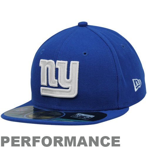 NFL New York Giants On Field 5950 Game Cap, Royal Blue, 6 1/2, Youth