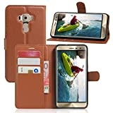 Excelsior Premium Leather Wallet Flip Cover Case For Asus ZenFone 3 Deluxe ZS570KL (5.7 Inch) - Brown