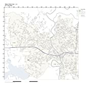 West Monroe Zip Code Map.Amazon Com Zip Code Wall Map Of West Monroe La Zip Code Map