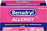 Benadryl Allergy Ultratab Tablets 100 ea (7 Pack)