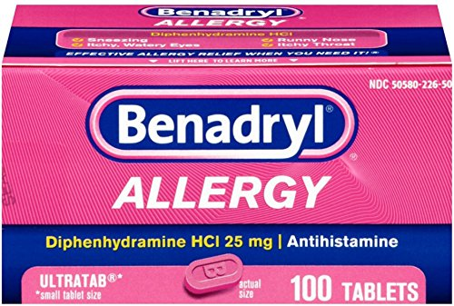 Benadryl Allergy Ultratab Tablets 100 ea (10 Pack) by Pharmapacks