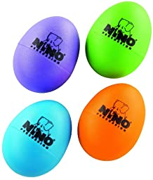 Nino Percussion NINOSET540-2 Four Piece Plastic Egg Shaker Set with Assorted Colors (VIDEO)