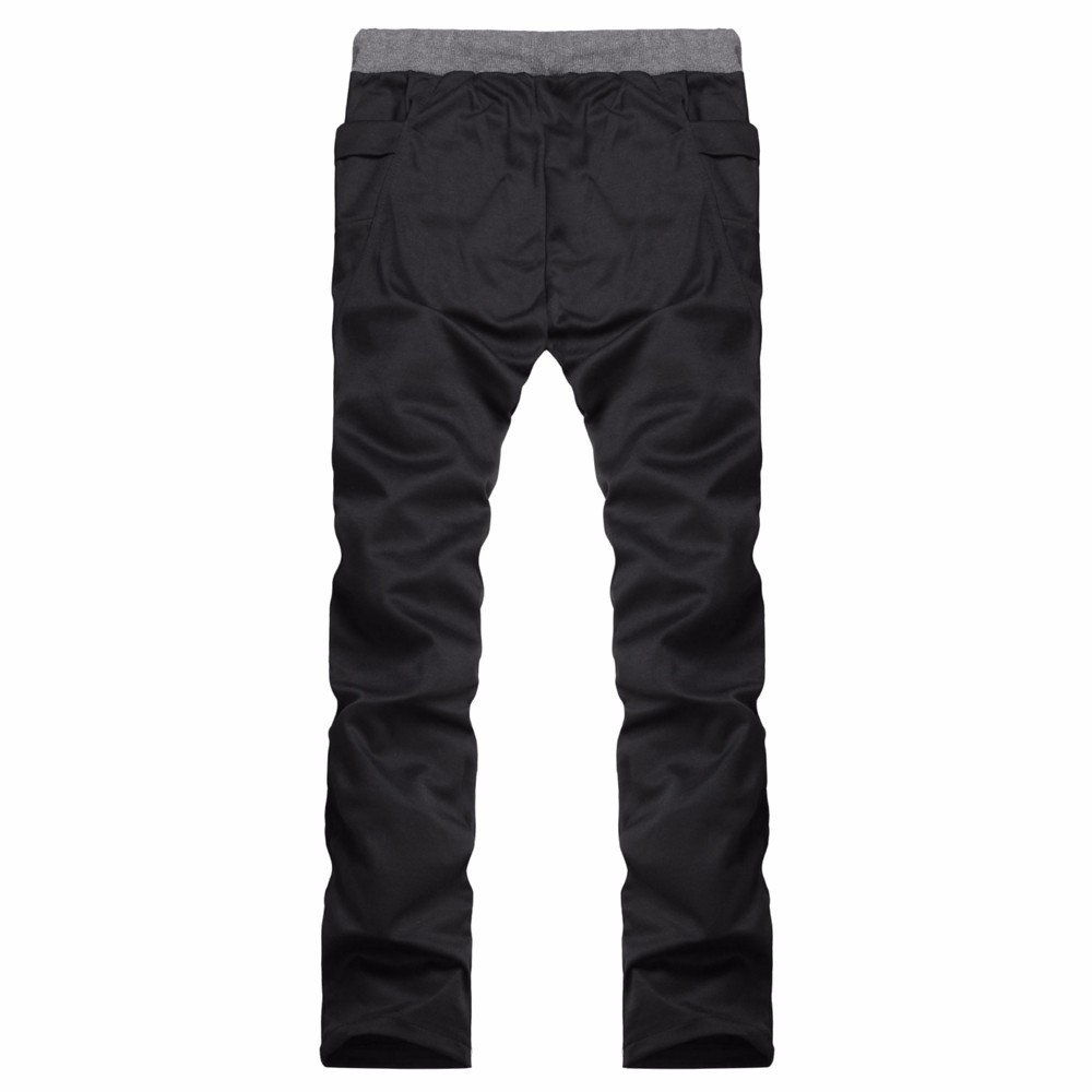 Alalaso Sweatpants for Men, Mens Jogger Sport Pants, Loose Casual Lightweight Elastic Waist Straight Pants Black