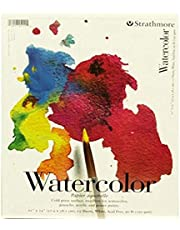 """Strathmore 25-111 200 Series Watercolor Pad, Cold Press, 11""""x15"""" Tape Bound, 15 Sheets"""