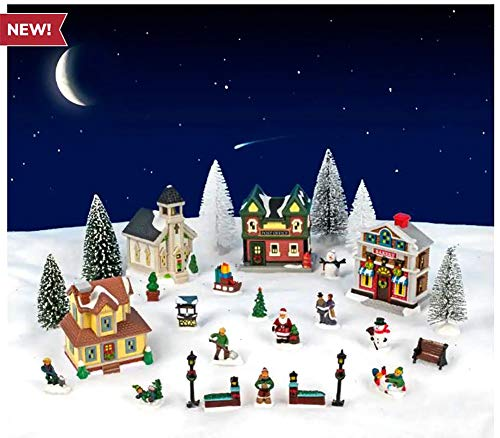 Cobblestone Corners Miniature Christmas Village Complete 2019 Set