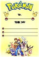 Pokemon gracias por venir fiesta de cumpleaños tarjetas – Portrait diseño – fiesta suministros/accesorios (Pack de 12 A6 tarjetas de agradecimiento) WITHOUT Envelopes: Amazon.es: Oficina y papelería