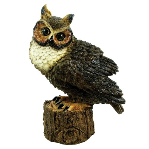 Michael Carr Designs 80053 Great Horned Owl Perched Outdoor Statue ()