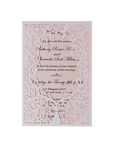 Amazon Com 50pcs Laser Cut Deer Wedding Cards Invitations White