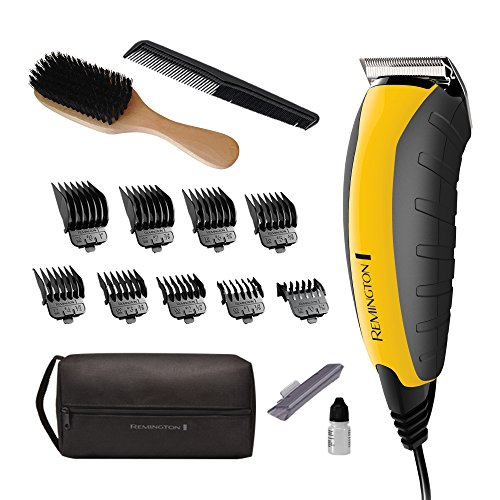 Remington HC5855 Virtually Indestructible Haircut Kit & Beard Trimmer, Hair Clippers for Men (15 pieces) from Remington