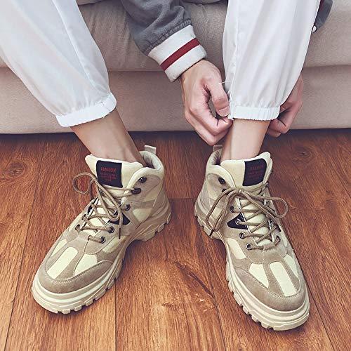 LOVDRAM LOVDRAM LOVDRAM Stiefel Männer Wild Martin High Heels Der Retro- Hohen Schuhe Der Männer Hoch, Um Starke Untere Schuhe Beiläufige Schuhe Zu Helfen 711a34