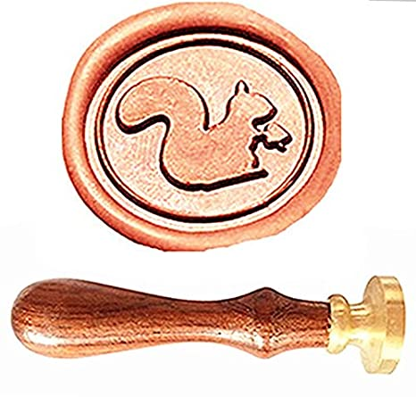 MNYR - Juego de sellos de madera de pino de ardilla vintage ...