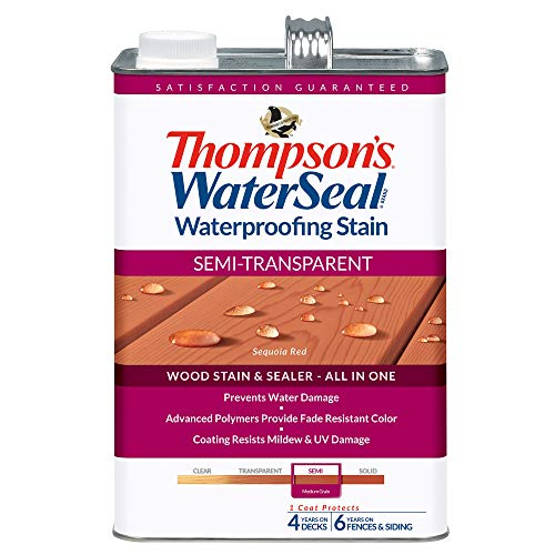 THOMPSONS WATERSEAL TH.042831-16 Semi-Transparent Waterproofing Stain, Sequoia Red