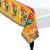 "Amscan Hip and Hop Yo Gabba Gabba Table Cover (1 Piece), Multicolor, 54"" x 96"""