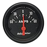 "Auto Meter 2644 Z-Series 2-1/16"" 60-0-60 amps Short Sweep Electric Ammeter Gauge"