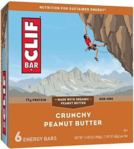CLIF BAR - Energy Bar - Crunchy Peanut Butter - (2.4 Ounce Protein Bar, 6 Count)