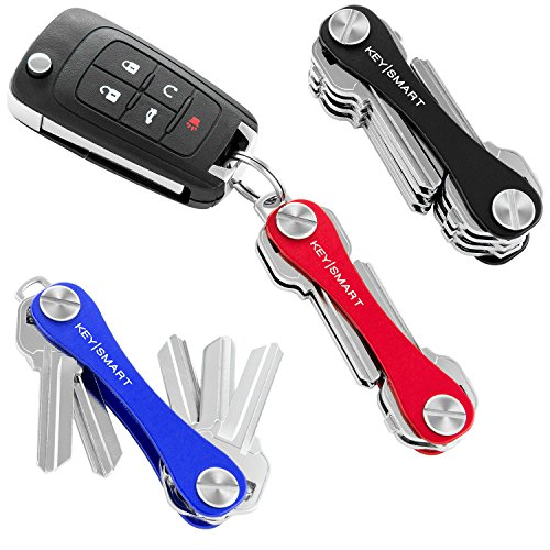 KeySmart Classic | Compact Key Holder and Keychain Organizer (2-14 Keys, Black) (Key Pocket Holder)