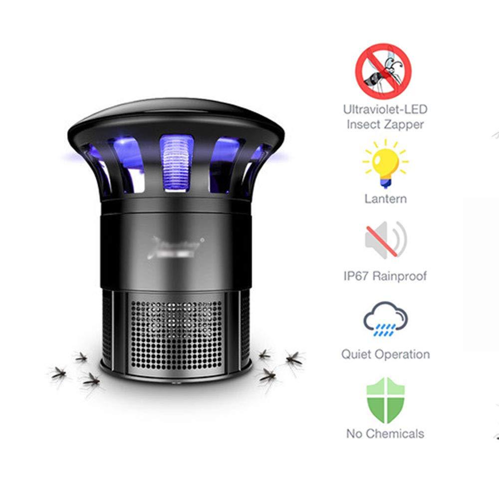 La Luce UV dell'uccisore della Mosca Uccide Le zanzare e Gli Insetti Volanti Ricaricabile da USB   Zapper ultraviolato   Ottimo per Il Campeggio, all'aperto