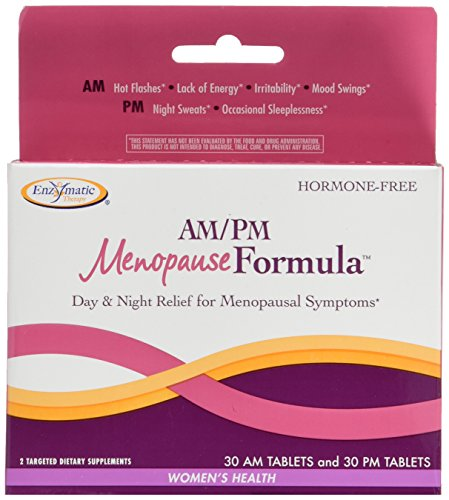 Enzymatic Therapy AM/ PM Menopause Formula- Hormone-Free Formula for Daytime Energy & Nighttime Restful Sleep (60 Count)