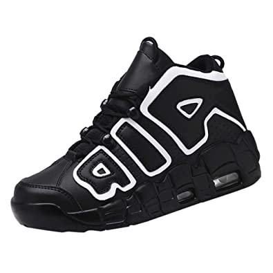 Mens Sneakers Lace Up Patent Leather High Top Sport Shoes Athletic Running Chic
