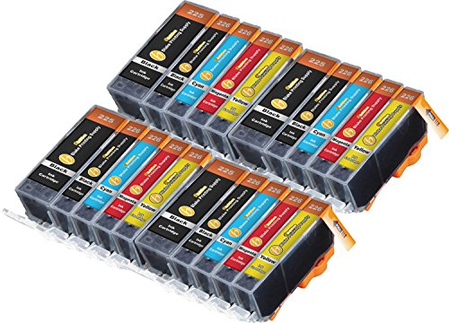20 Pack B-Edition Ink Cartridges for CLI-226 PGI-225 PIXMA iP4820 iP4920 iX6520 MG5120 MG5220 MG5320 MX712 MX882 MX892 (4 of each color) by Blake Printing Supply