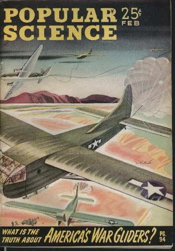 Post Glider (POPULAR SCIENCE War Gliders Burma Post-War Jeeps Voltmeter Carpet Loom ++ 2 1944)