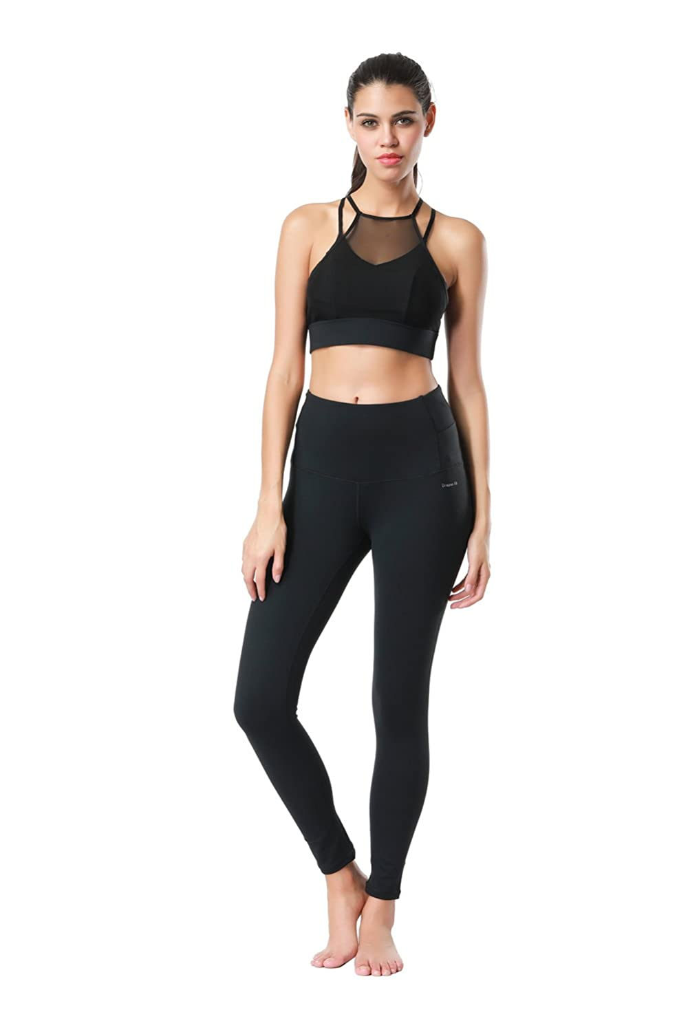 ae77cd84341c19 Amazon.com: Dragon Fit Compression Yoga Pants Power Stretch Workout Leggings  with High Waist Tummy Control: Clothing