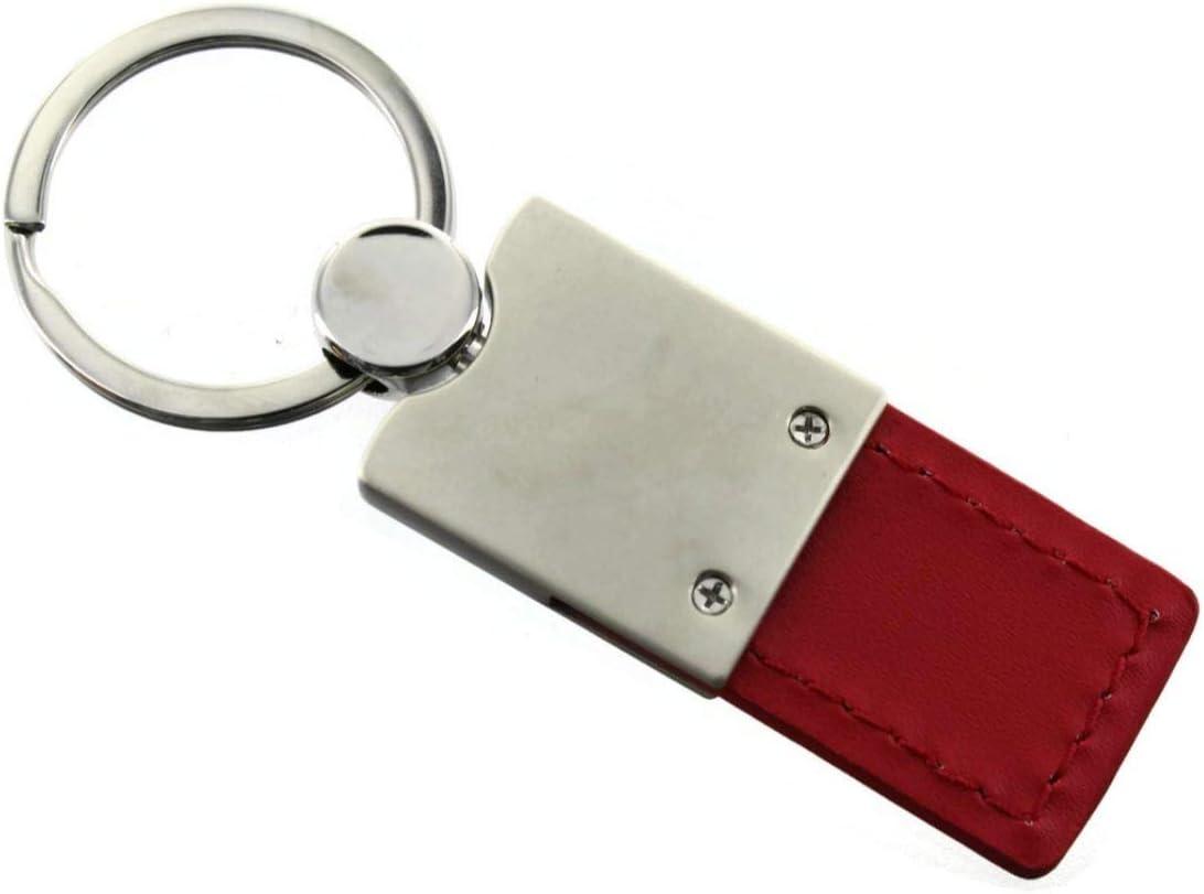 Dodge Nitro Red Leather Car Fob Key Chain Ring Au-Tomotive Gold INC