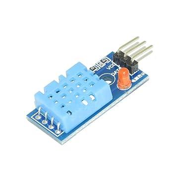 DHT11 DHT-11 Módulo digital de temperatura y humedad relativa para Arduino: Amazon.es: Electrónica