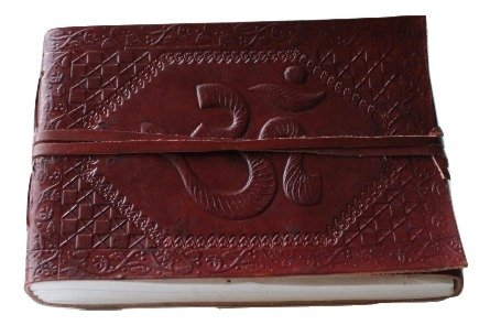 Classic OM Embossed Handmade Genuine Leather Journal/Instagram Photo Album - Coptic Bound