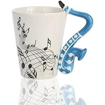Amazon Com Hljgift Creative Ceramic Musician Coffee Mug