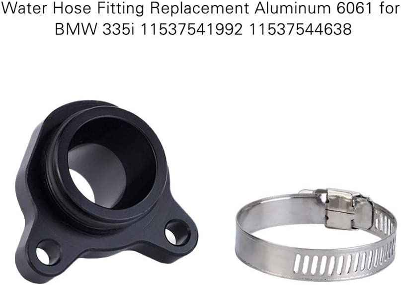 Cheriezing Water Hose Fitting Replacement with Clamp for BMW N55 N54 N53 N52 N20 11537541992 11537544638