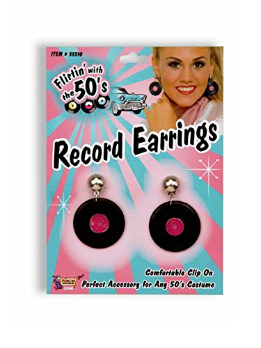 (Forum Novelties Record Earrings Black)