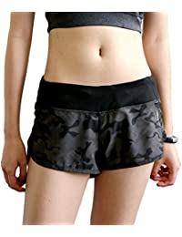 Women Camouflage Activewear Jogging Trousers Sports Fitness Shorts Gym Training Mini Pants