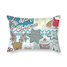 Christmas Throw Cushion Covers 20 X 30 Inches/50 by 75 cm for Living Room Gf Play Room Bf Family Dance Room with 2 Sides