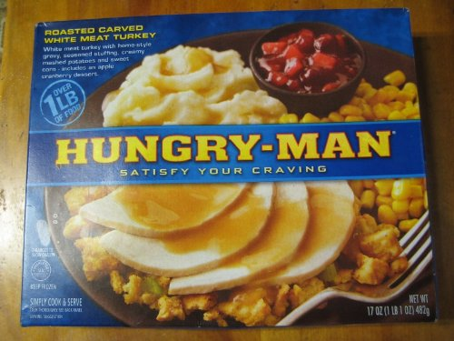 HUNGRY MAN TV TURKEY DINNER 1LB PACK OF 3