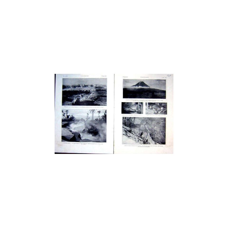 Merapi Volcano Eruption Lava French Print 1931 Mount