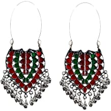 Sansar India Kuchi Afghani Indian Earrings Jewelry for Girls and Women