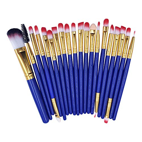 20 Pcs Makeup Brush Set,Honhui Hot Sale Foundation Powder EyeShadow Eyebrow Lip Blush Brush Tool (B)