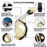 Full Face Snorkel Mask, 2020 Upgraded Snorkeling