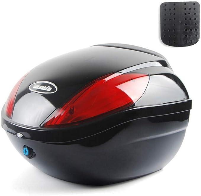 28L Motorrad Roller Set-Top-Box PP Wasserdichter Diebstahlschutz Mit Weicher R/ückenlehne Und Reflektorlampe Abnehmbarer Motorrad-Koffer