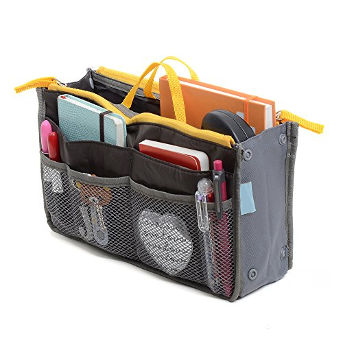 Purse Accessories (Large Purse Organizer Insert Handbag Pouch Tidy & Neat (Ships From USA) (Gray))